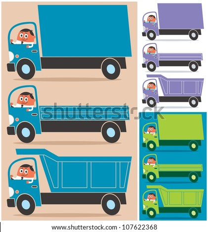 Truck Driver Cartoon