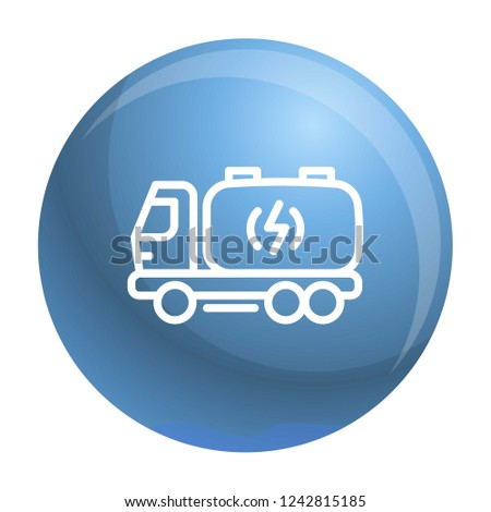 truck energy icon outline