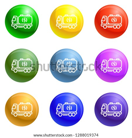 truck energy icons vector 9
