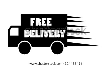 Truck free delivery icon vector isolated