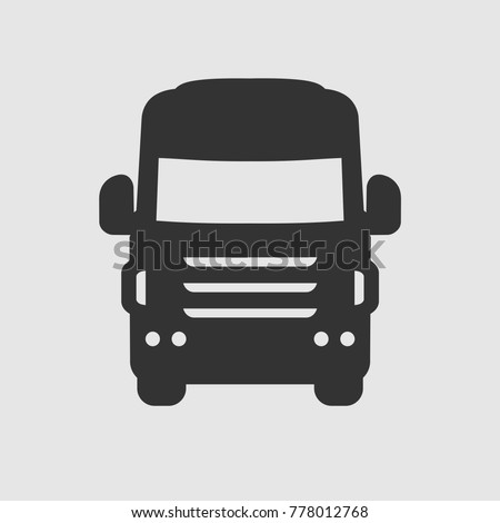 truck front icon vector illustration
