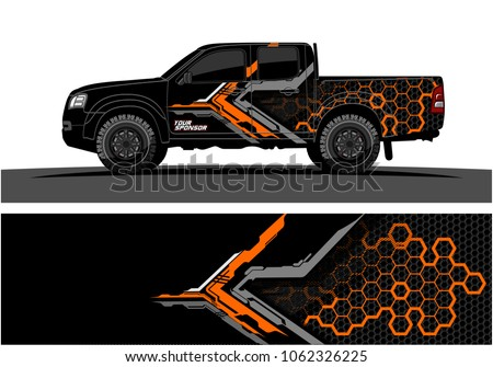 truck graphic abstract modern