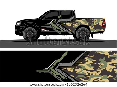 Truck Graphic. Abstract modern lines graphic design for truck and vehicle wrap and branding stickers