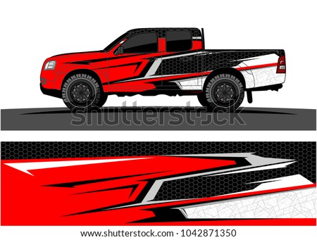 truck graphic background kit