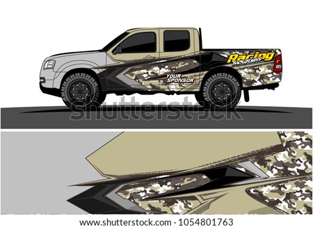 Truck graphic vector. Racing Background for truck, car, Boat and vehicles