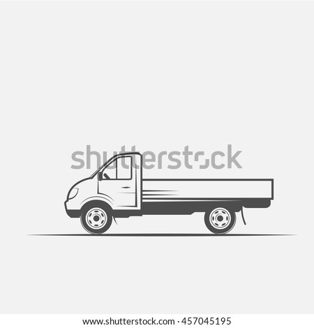 truck grayscale images on a