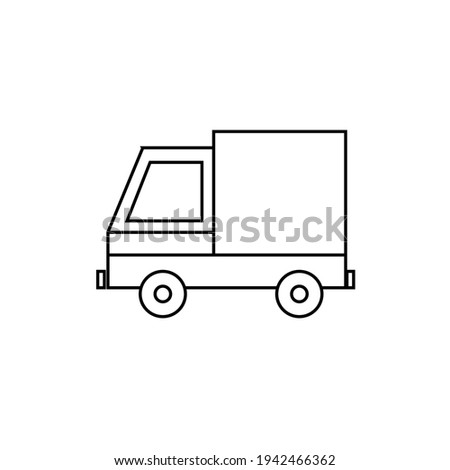 truck icon in trendy flat style