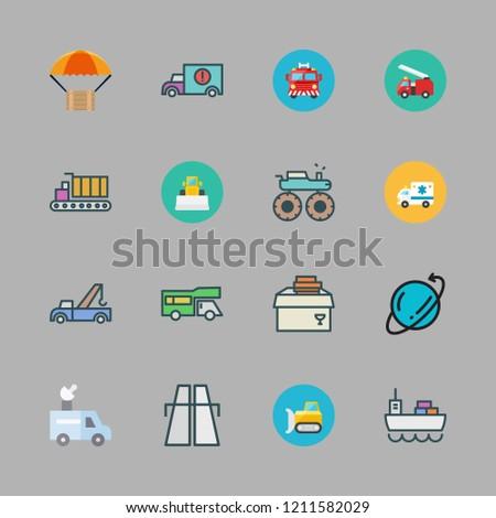 truck icon set vector set