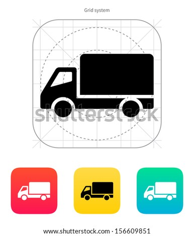 Truck icon. Vector illustration.