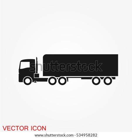 Truck icon. Vector transportation icon