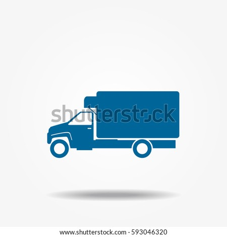 Truck icon, vector transportation sign