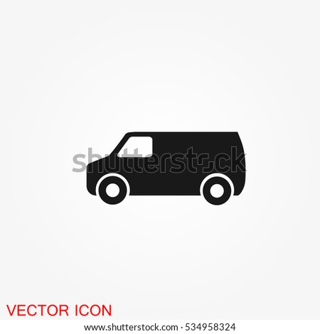 Truck icon, vector transportation symbol