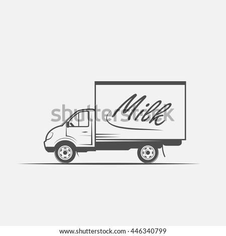 truck in grayscale