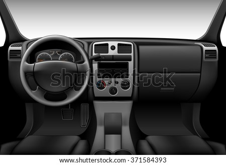 truck interior   inside view of