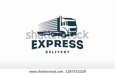 8120400adc Delivery Truck silhouette Logo design… Stock Photo 400286794 ...