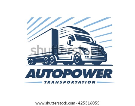 Truck logo illustration on white background