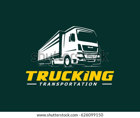 truck logo vector on dark