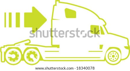 Truck Moving forward icon modern