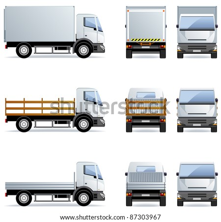 truck  set  12  in vector