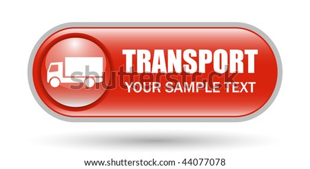 Truck Sign Transport Icon with Copy Space