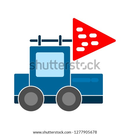 truck toy icon- truck toy isolated, transport cartoon illustration - Vector toy