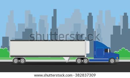 truck trailer blue