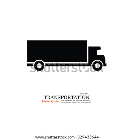 Truck.truck icon.truck vector icon .Transport icons.transportation vector illustration