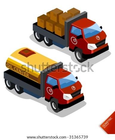 Truck vector - stock vector