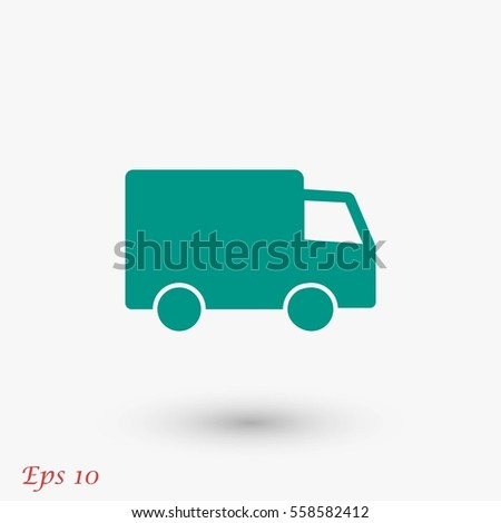 truck vector icon, flat design best vector icon