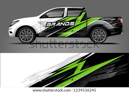 Truck Wrap design for company, decal, wrap, and sticker. vector eps10