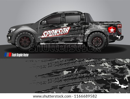 truck wrap design vector. abstract background for vehicle decal vinyl branding