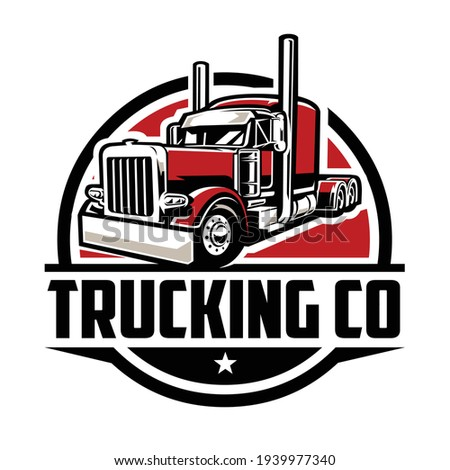 Trucking logo. Premium vector logo design isolated. Ready made logo concept