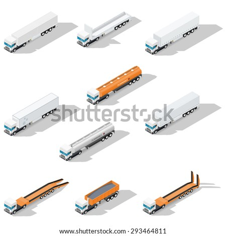 trucks with semitrailers