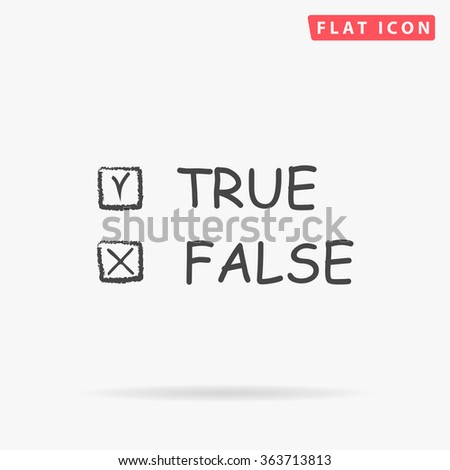 True and False Icon Vector.