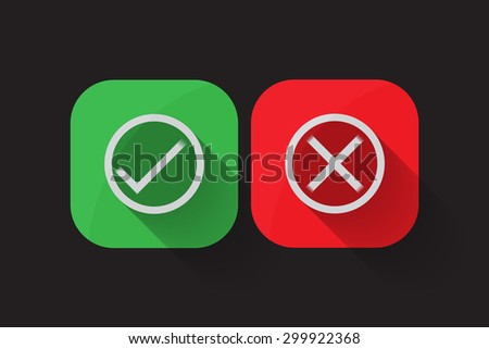 True & False icon button.