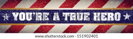 true hero banner