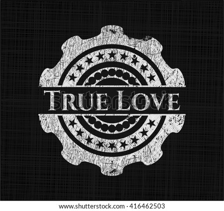 True Love chalkboard emblem