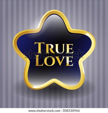True Love gold badge