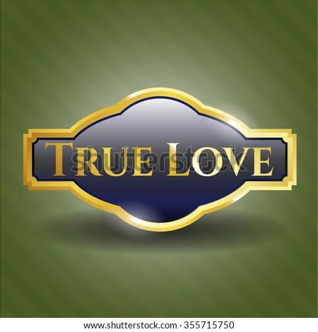 True Love golden emblem