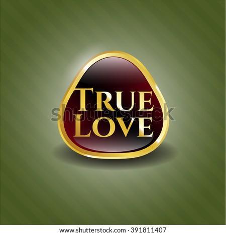True Love golden emblem or badge
