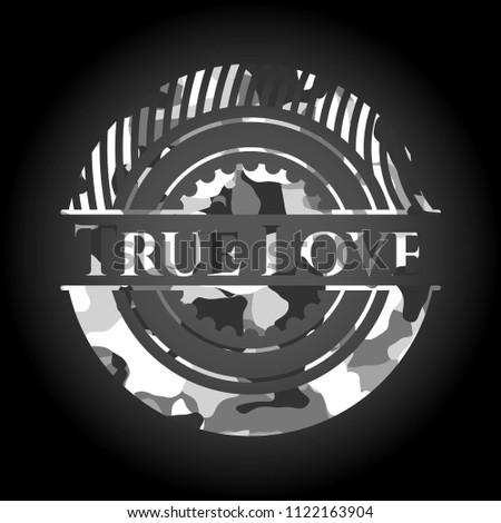 true love grey camouflaged