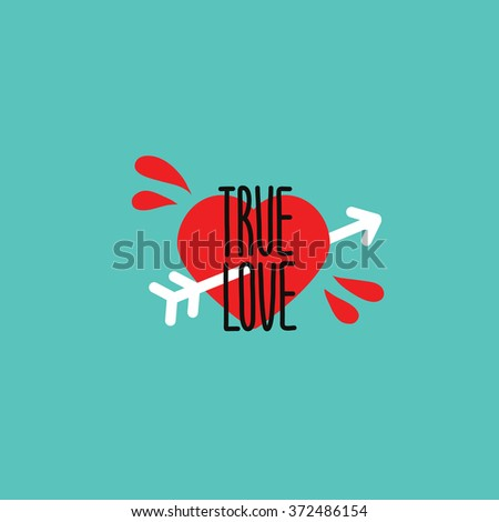 true love postcard
