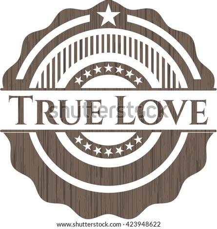 True Love realistic wood emblem