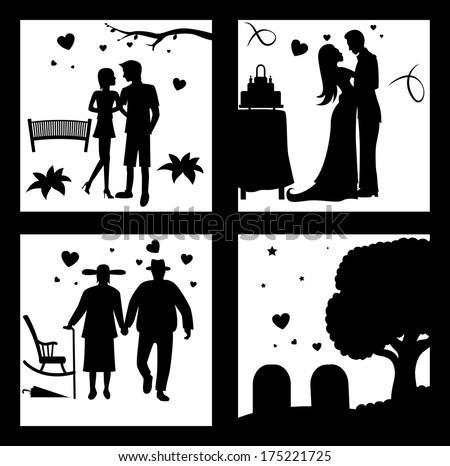 true love until death silhouette