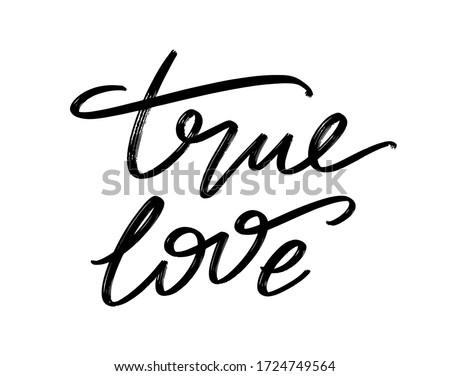 true love vector hand drawn