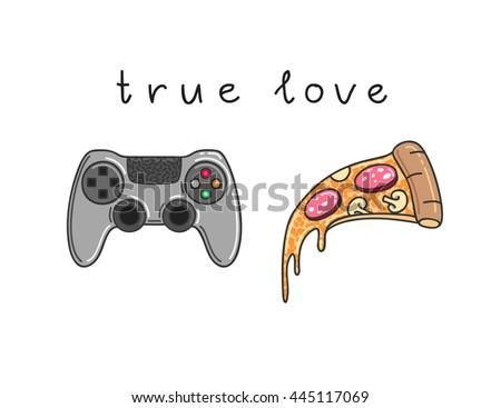 true love vector illustration