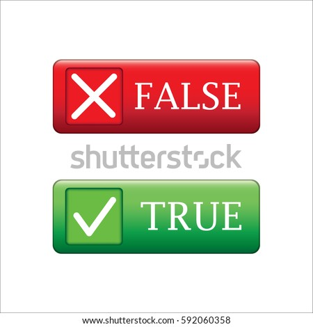 True or false button vecter