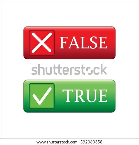 True or false button vecter
