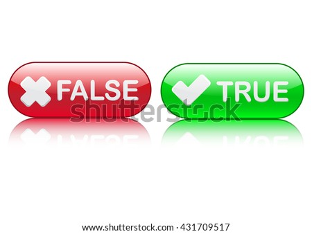true or false button vector