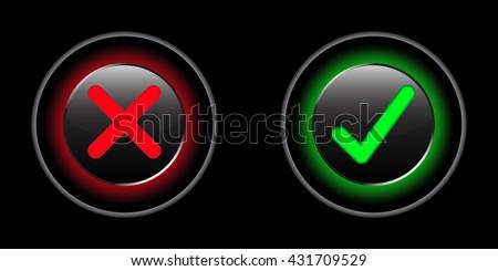true or false button vector